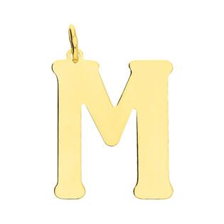 Literka srebrna pozłacana-M BC-Litera 3cm-M Gold próba 925