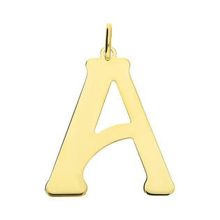 Literka srebrna pozłacana-A BC-Litera 3cm-A Gold próba 925