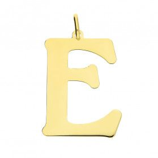 Literka srebrna pozłacana-E BC-Litera 3cm-E Gold próba 925