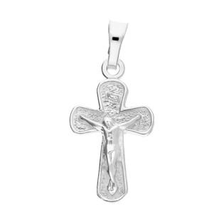 Krzyżyk srebrny wizerunek żłobiony ram.obłe nr DJ4 próba 925