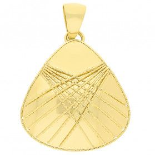 Zawieszka złota trójkąt obły z drucikami FL-025 próba 585