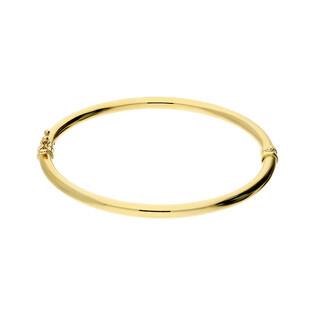 Bransoleta złota bangle rurka 3mm A4 A001 próba 585