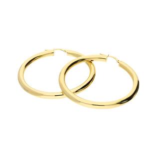Kolczyki złote kółka rurka 45mm/ang.zap A4 180-2445-OVT próba 585