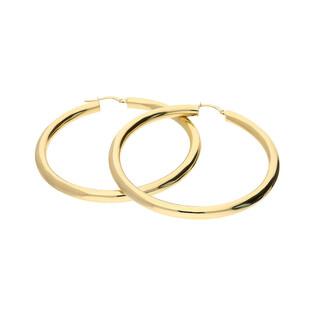 Kolczyki złote kółka rurka 50mm/ang.zap A4 180-2450-OVT próba 585
