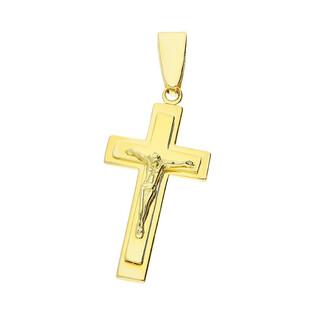 Krzyżyk złoty z wizerunkiem Jezusa WB AR P10862-III-LP próba 375