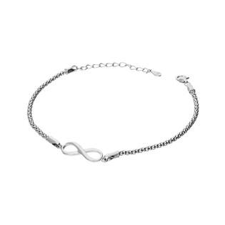 Bransoleta srebrna symbol nieskończoności/coreana HS1254 próba 925