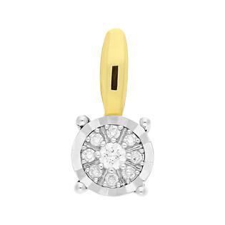 Zawieszka LEMON kółko z diamentami 4ł-0,010ct KU 1338-516 próba 585