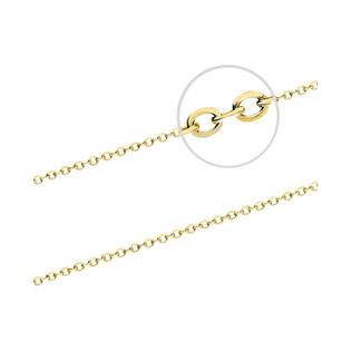 Łańcuszek srebrny pozłacany typu anker AT 040 GOLD próba 925