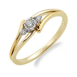 Pierścionek zaręczynowy NOBLE z diamentami LC RR529 Y próba 585