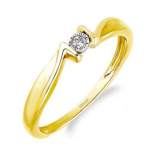 Pierścionek zaręczynowy MARIAGE z diamentem LC RR588 Y próba 585
