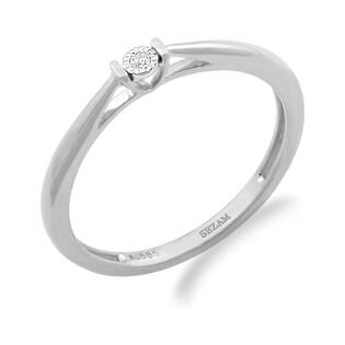Pierścionek zaręczynowy VICTORIA z diamentem LC RR595 W białe złoto próba 585