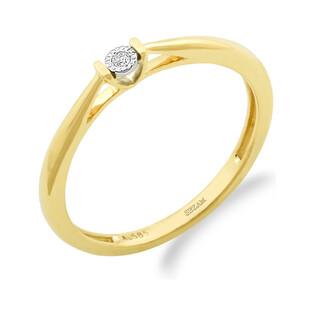 Pierścionek zaręczynowy VICTORIA z diamentem LC RR595 Y próba 585