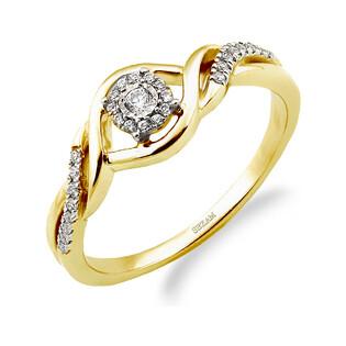 Pierścionek zaręczynowy MIRAGE z diamentami LC RR43536 Y próba 585