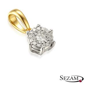 Zawieszka złota z diamentem AW 48553 YW próba 585