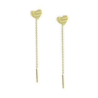 Kolczyki złote serce grawerowane/przeciągane rolo FL-004 próba 585