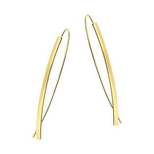 Kolczyki złote blaszka blask/rybka FL-009 próba 585