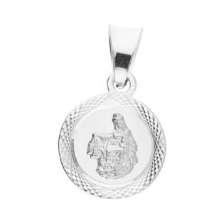 Medalik srebrny Szkaplerz okrągły MV GMD125 próba 925