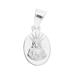 Medalik srebrny Szkaplerz owal MV GMD140 próba 925
