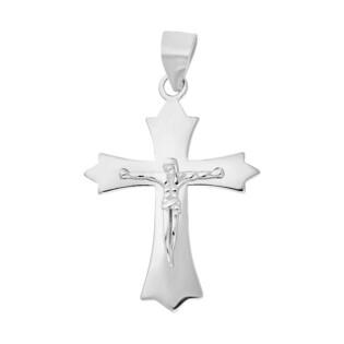Krzyżyk srebrny gładki z wizerunkiem ram.falbanka nr HS1111 próba 925