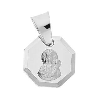 Medalik srebrny Częstochowska w ośmiokącie MV GMD054 próba 925