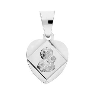 Medalik srebrny Częstochowska w sercu MV GMD082 próba 925