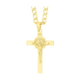 Złoty krzyżyk Benedyktyński z dopasowanym łańcuszkiem M2 C-0850+GAXPDE 0+1 140 próba 333