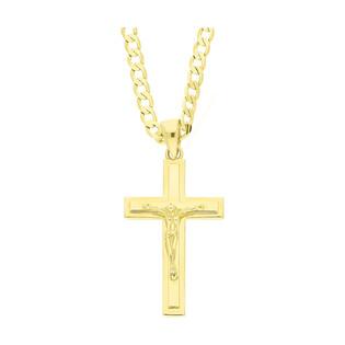 Złoty krzyżyk łaciński z dopasowanym łańcuszkiem nr M2 P10719+GAXPDE 0+1 065 L50