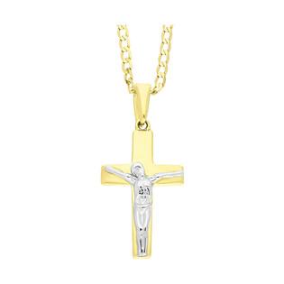 Złoty krzyżyk z Panem Jezusem z dopasowanym łańcuszkiem M2 T23-P-167-YW+GAXPDE 0+1 040 próba 375