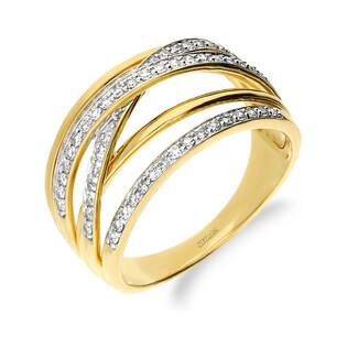 Pierścionek zaręczynowy DUBAJ z diamentami LC RR36994 Y próba 585