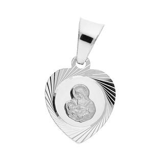 Medalik srebrny Matka Boska karmiąca w sercu MV GMD083 próba 925