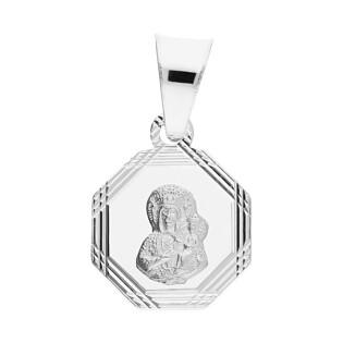Medalik srebrny Częstochowska w ośmiokącie MV GMD144 próba 925