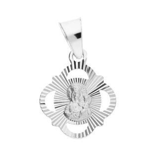Medalik srebrny Częstochowska w ażurowym rombie MV MD061 próba 925