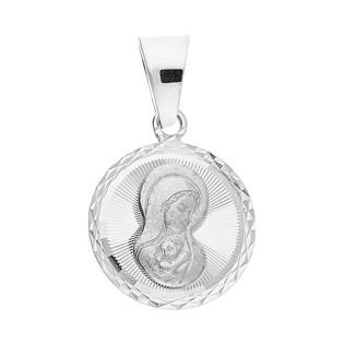 Medalik srebrny Matka Boska z Dzieciątkiem w kółku MV MD494 próba 925