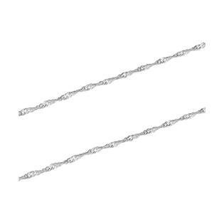 Łańcuszek srebrny typu singapur BC 1450-040 próba 925
