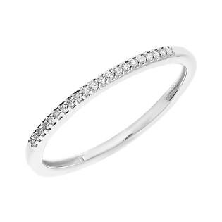 Pierścionek LINE z diamentami 10295 białe złoto próba 585
