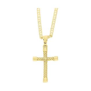 Złoty krzyżyk łaciński z dopasowanym łańcuszkiem M2 FZH-06+RBPDECO 065 próba 585