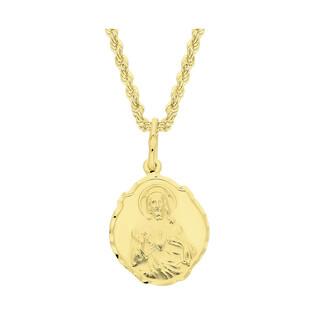Złoty medalik Szkaplerz z dopasowanym łańcuszkiem M2 OP59-1+V-CORDALAS 040 próba 585
