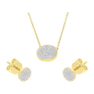 Zestaw złoty naszyjnik i kolczyki z diamentami Happy Diamond AW 66697 Y-05793 Y