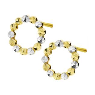 Kolczyki złote kółko grawerowane/sztyft AR X3E212985-YW-DC próba 585