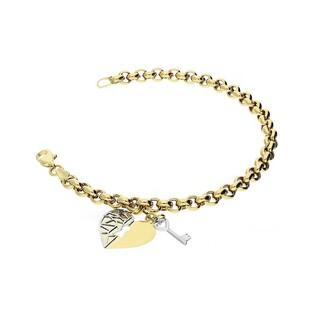 Bransoleta złota serce z kluczykiem nr ARVXROB201619-YW-DC próba 333