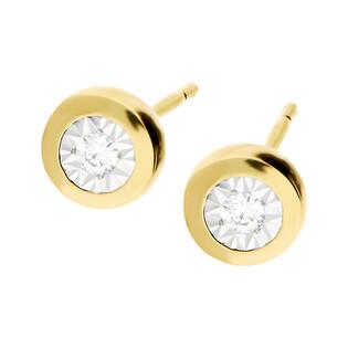Kolczyki złote MAGIC z diamentem/sztyft LC KE465205-KP975701Y próba 585