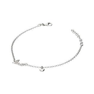 Bransoletka srebrna z napisem LOVE/rolo NI463 próba 925