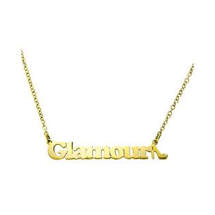 Naszyjnik srerbny pozłacany z napisem Glamour 101513 Glamour GOLD próba 925