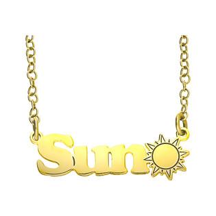 Naszyjnik Sun/rolo BK 101513 Sun GOLD próba 925