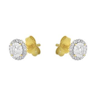 Kolczyki z diamentami SWEET/sztyft nr KU 102215-102863 próba 585