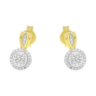 Kolczyki złote z diamentami nr KU 102219-102865
