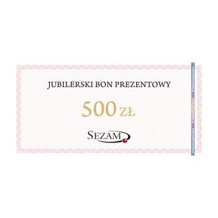 Jubilerski Bon Podarunkowy o nominale 500zł RU 500