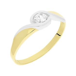 Pierścionek złoty MARIAGE z cyrkonią NB 50598 próba 585