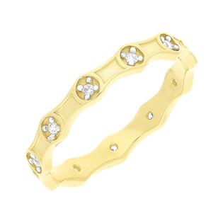 Pierścionek złoty różaniec z cyrkoniami NB 501860 próba 585