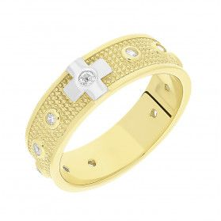 Pierścionek złoty różaniec z cyrkoniami NB DJ10-501834 próba 375